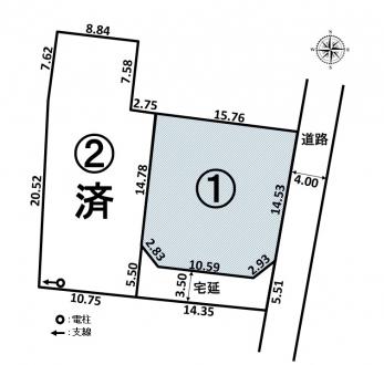 土地 - 長野県松本市神林字木曽道339番12、339番14の内
