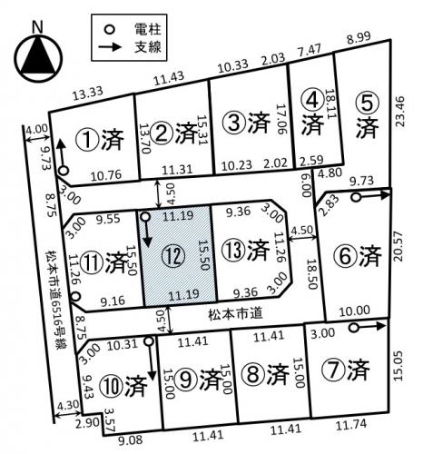 土地 - 長野県松本市笹賀5087-4の内